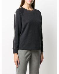 Peserico コントラストトリム スウェットシャツ Gray