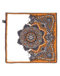 Carré de poche à fleurs Tagliatore pour homme en coloris Brown