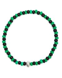 Luis Morais Green Mini Lady Bug Beaded Bracelet