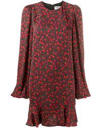 Essentiel Antwerp フローラル ベルテッドドレス Black