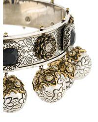 Alexander McQueen - Metallic Jewelled Choker - Lyst