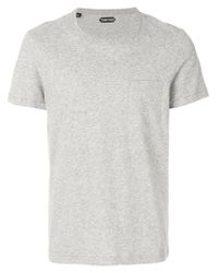 Tom Ford | Gray Basic T-shirt for Men | Lyst