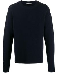 The Row Blue Connor Ribbed Jumper for men