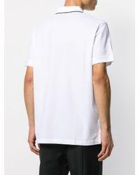 メンズ Burberry ロゴエンブロイダリー ポロシャツ White