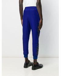 Pantaloni sportivi con ricamo di Haider Ackermann in Blue da Uomo