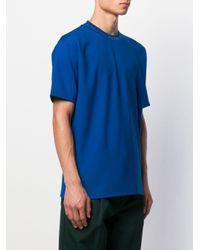 メンズ Acne クルーネック Tシャツ Blue