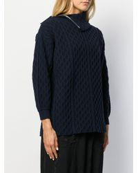 Loewe ケーブルニット セーター Blue