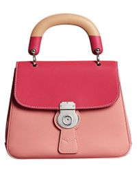 Burberry Dk88 Top Handle Bag in Pink - Lyst 2e11214ae1252