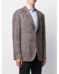 メンズ Boglioli チェック シングルジャケット Multicolor