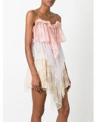 Philosophy Di Lorenzo Serafini Multicolor Asymmetric Lace Dress