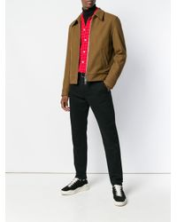 メンズ AMI スナップボタン ジップジャケット Brown