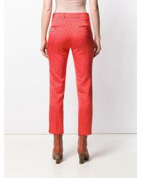 Pantalon droit imprimé Etro en coloris Orange