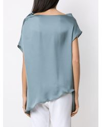 Blusa con scollo drappeggiato di UMA | Raquel Davidowicz in Blue