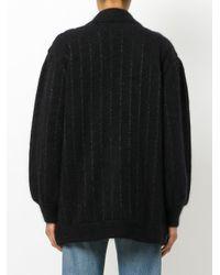 Laneus - Black Striped Cardigan - Lyst