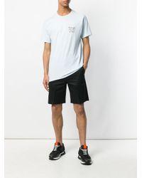 Stussy Blue World Print T-shirt for men