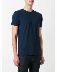 メンズ Drumohr ポケットtシャツ Blue