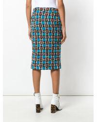 Marni Blue Tweed Skirt