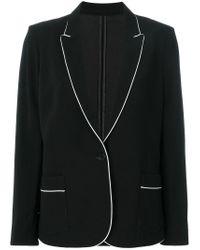 Zadig & Voltaire Black Victor Pj Deluxe Blazer
