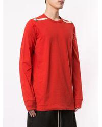 Rick Owens 'Level' Langarmshirt in Orange für Herren