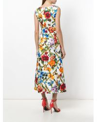 Dolce & Gabbana - White Floral Printed Dress - Lyst