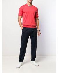 T-shirt bicolore Eleventy pour homme en coloris Red