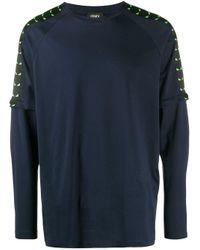 メンズ Fendi バッグバグズ ロングtシャツ Blue