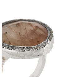 Rosa Maria Metallic Round Signet Ring