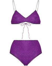 Bikini Lumiere a vita alta di Oseree in Purple