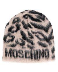 Шляпа Бини С Леопардовым Узором Moschino, цвет: Multicolor
