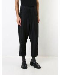 メンズ Forme D'expression テーラードバギーパンツ Black