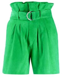 P.A.R.O.S.H. Green Paperbag-Shorts