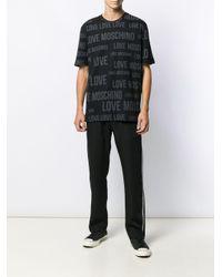 T-shirt à motif monogrammé Love Moschino pour homme en coloris Black