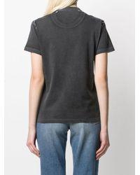 T-shirt à imprimé graphique Pinko en coloris Black