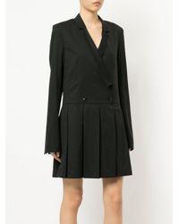 Helmut Lang Black Pleated Blazer Dress