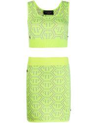 Комплект Из Топа И Юбки С Логотипом Philipp Plein, цвет: Green