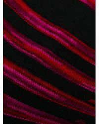 メンズ Issey Miyake ストライプ靴下 Multicolor