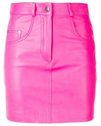 Manokhi Pink Fitted Mini Skirt