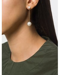 Delfina Delettrez Metallic 18kt Gold Virus Pearl Earring