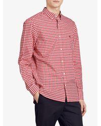 Burberry - Red Gingham Shirt for Men - Lyst