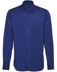 メンズ Prada クラシック シャツ Blue