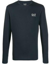 Sweat à logo imprimé EA7 pour homme en coloris Blue