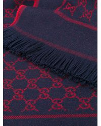 Gucci | Blue Gg Supreme Scarf for Men | Lyst
