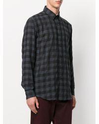 Etro - Black Camicia Classica A Scacchi for Men - Lyst