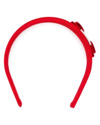 Ferragamo Red Vara Bow Headband
