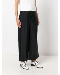 Joseph - Black Wide-legged Trousers - Lyst
