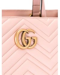 Gucci Pink Gg Marmont Tote