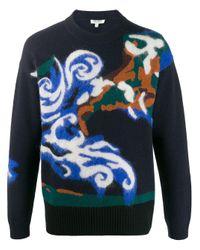 メンズ KENZO ロゴ セーター Blue