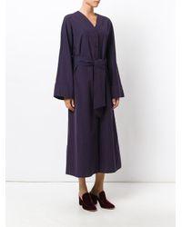 Pringle of Scotland   Blue Striped Drawstring Shirt Dress   Lyst