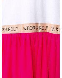 Viktor & Rolf ラッフル Tシャツワンピース White