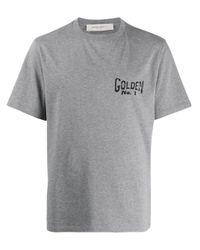Golden Goose Deluxe Brand Gray Baseball Print T-shirt for men